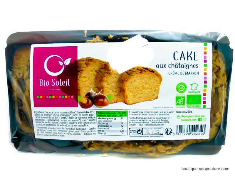 Bio Soleil - Cake aux châtaignes et crème de marron 260g - Bio