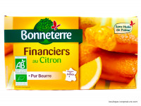BONNETERRE Financiers au citron 150g