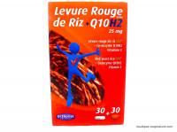 ORTHONAT Levure de riz + Q10H2 boite de 2x30 gélules