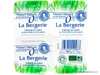 LA BERGERIE Yaourts de brebis 0% 4x120g