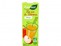 EVERNAT Pur jus de pomme 100% fruits 1L