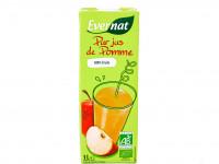 EVERNAT Pur jus de pomme 100% fruits 1L