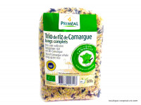 PRIMEAL Trio de riz de Camargue longs complets 500g