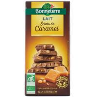 BONNETERRE Chocolat au lait éclats de caramel 100g
