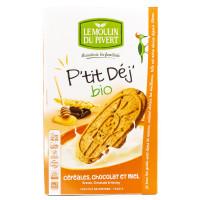Biscuits P'tit Déj Céréales Chocolat et Miel - 190g