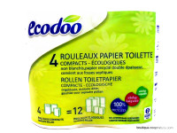 ECODOO Papier toilettes 4 rouleaux compacts