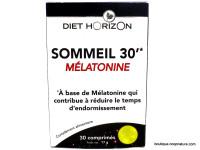 DIET HORIZON Sommeil 30' mélatonine 30 comprimés