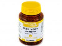 NAT & FORM Huile de foie de morue 200 capsules