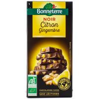 Chocolat Noir Citron Gingembre 100g - Bio