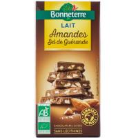 BONNETERRE Chocolat au lait amandes & sel de Guérande 100g