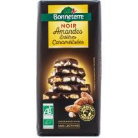 BONNETERRE Chocolat noir aux amandes caramélisées 200g