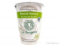 LA BERGERIE Brassé nature au lait de brebis 400g