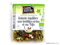 CARTE NATURE Salade équilibre lentilles vertes & tofu 160g