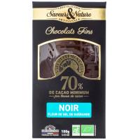 SAVEUR&NATURE Chocolat noir 70% fleur de sel 100g