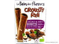 PAIN DES FLEURS Crousty roll cacao noisettes sans gluten 125g