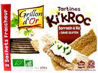 GRILLON D'OR Tartines Ki'Kroc sarrasin & riz 270g