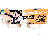 LE P'TIT GALLO Semoule au lait vanille 4x100g