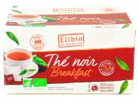 ELIBIO Thé noir Breakfast 50 sachets soit 100g Bio