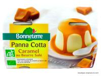 BONNETERRE Panna cotta caramel beurre salé 2x125g