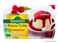 BONNETERRE Panna cotta framboise 2x130g