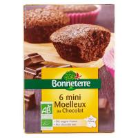 Bonneterre - 6 Gâteaux Mini Moelleux au Chocolat 200g - Bio