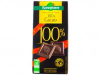 BONNETERRE Dégustation noir 100% Cacao 80g