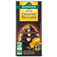 BONNETERRE Chocolat noir caramel beurre salé 100g