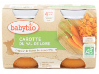 Pots carotte 2x130g Bio