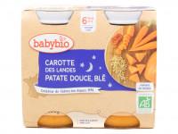 Pots carotte patate douce blé 2x200g Bio