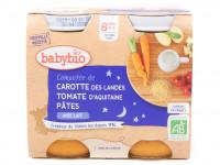 Compotée carotte tomate pâtes 2x200 Bio