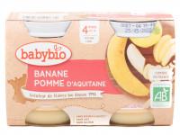 Pots banane pomme 2x130g Bio