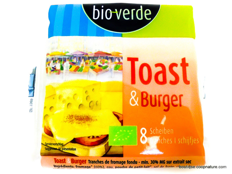BIOVERDE Fromage fondu en tranches 150g