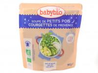 Soupe petits pois courgettes 190g Bio