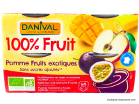 DANIVAL Compote pomme fruits exotiques 4x100g