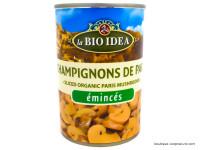 BIO IDEA Champignons de Paris émincés 400g