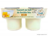 TRADI BERGÈRE Yaourts de brebis au miel 2x125g