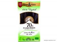 SAVEUR&NATURE Chocolat noir 70% sucre de coco 100g