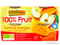 DANIVAL Compote pomme mangue 4x100g