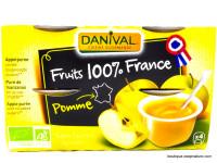 DANIVAL Compote de pomme 4x100g