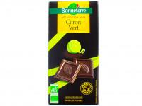 BONNETERRE Chocolat noir cristaux de citron vert 90g