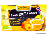 DANIVAL Compote pomme mirabelle 4x100g