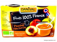 DANIVAL Compote pomme nectarine 4x100g