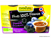 DANIVAL Compote pomme pruneaux 4x100g
