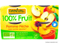 DANIVAL Compote pomme pêche 4x100g