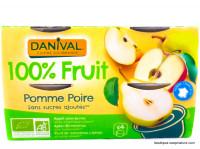 DANIVAL Compote pomme poire 4x100g