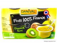 DANIVAL Compote pomme kiwi 4x100g