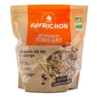 J.FAVRICHON Müesli croustillant graines de lin & courges 450g