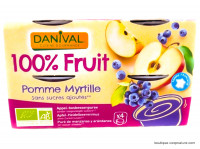 DANIVAL Compote pomme myrtille 4x100g