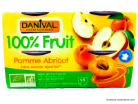 DANIVAL Compote pomme abricot 4x100g