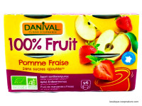 DANIVAL Compote pomme fraise 4x100g
